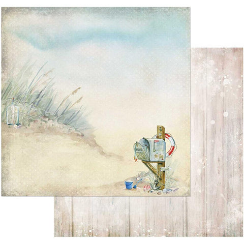 "(Pre-Order) 49 and Market - Sand & Sea Double-Sided Cardstock 12""X12"" - Beach This Way"