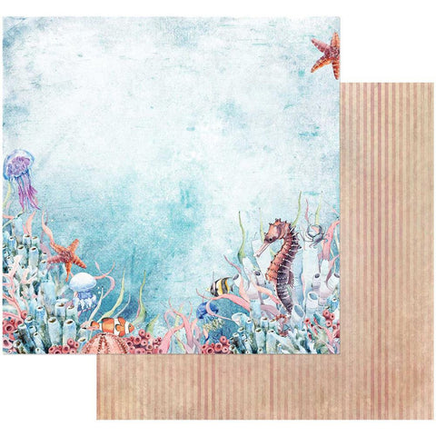 "49 and Market - Sand & Sea Double-Sided Cardstock 12""X12"" - Sea World"