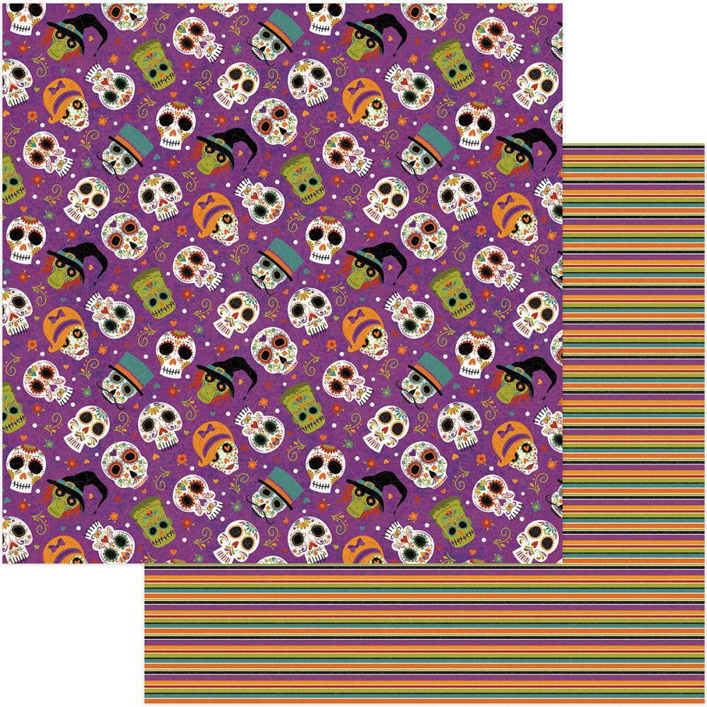 Photo Play Paper - Matilda & Godfrey Double-Sided Cardstock - Dia de los Muertos (Halloween)