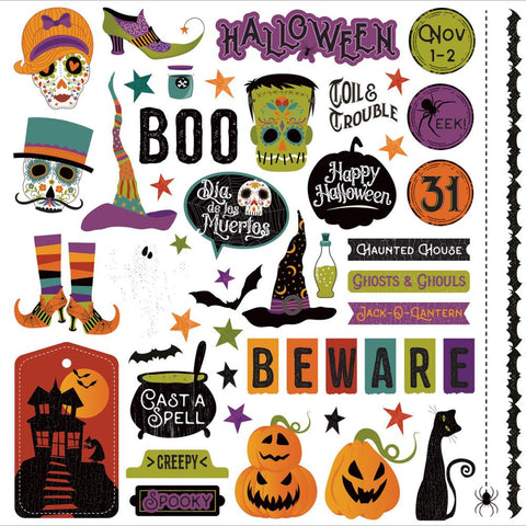 Photo Play Paper - Matilda & Godfrey Stickers - Elements (Halloween)