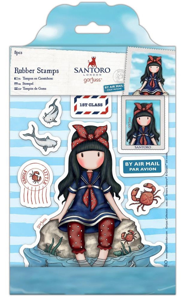 Docrafts - Santoro London Gorjuss Rubber Stamps - Little Fishes
