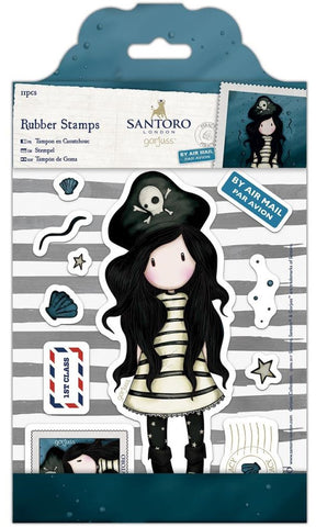 Docrafts - Santoro London Gorjuss Rubber Stamps - Piracy