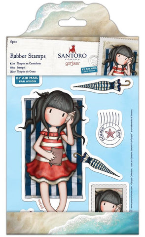 Docrafts - Santoro London Gorjuss Rubber Stamps - Summer Days
