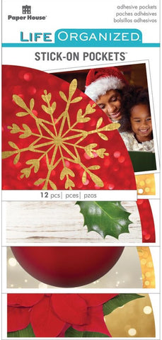 ***Pre-Order*** Paper House - Life Organized Adhesive Pockets - Christmas