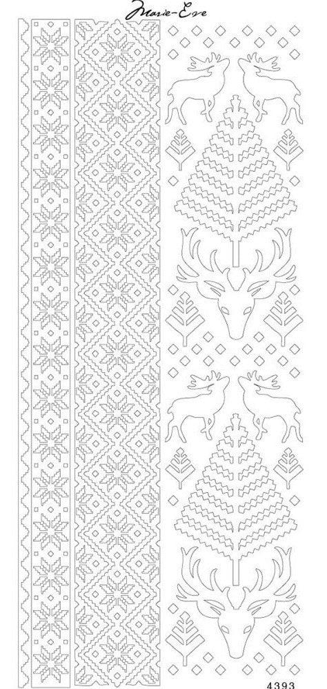 Enveloprint - Marie Eve Peel Off Stickers - Nordic Winter Gold