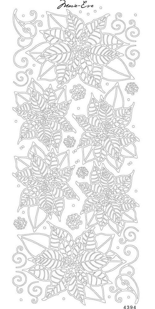Enveloprint - Marie Eve Peel Off Stickers - Poinsettia Silver