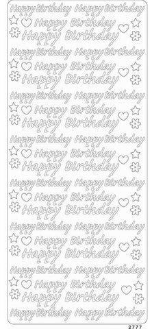Enveloprint - Peel Off Gem Stickers - Happy Birthday Copper