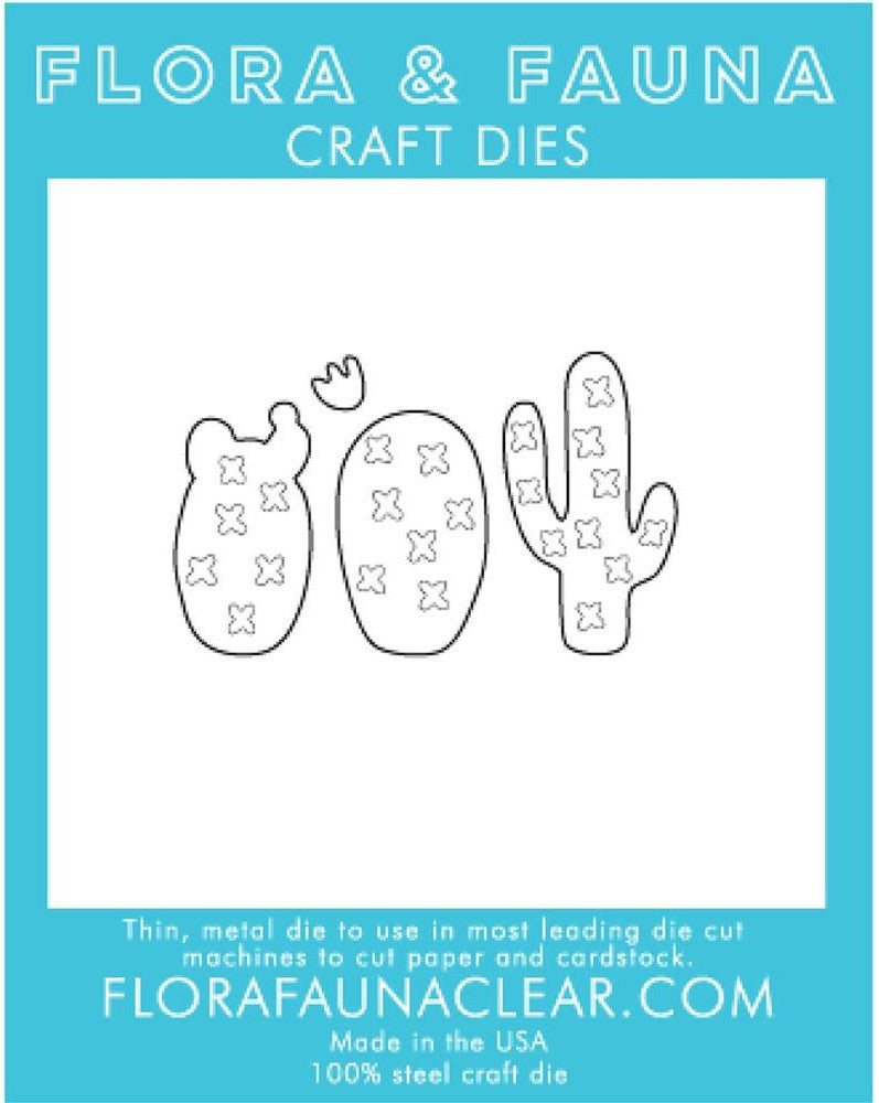 Flora and Fauna Craft Dies - Cactus Trio