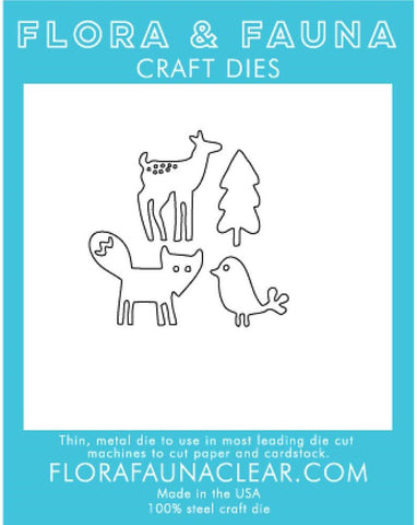 Flora and Fauna Craft Dies - Woodland Animals