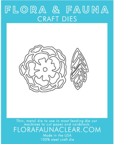 Flora and Fauna Craft Dies - Peony With Leaf