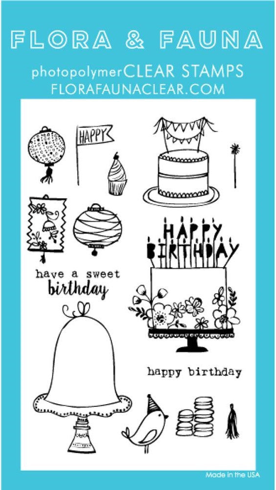 Flora and Fauna Photopolymer Clear Stamps - Birthday