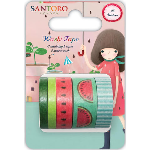 Craft Consortium - Santoro Washi Tape 5 Designs/1m Each