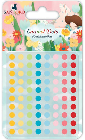 Craft Consortium - Santoro Enamel Dots Orange, Yellow, Green, Blues & Pinks