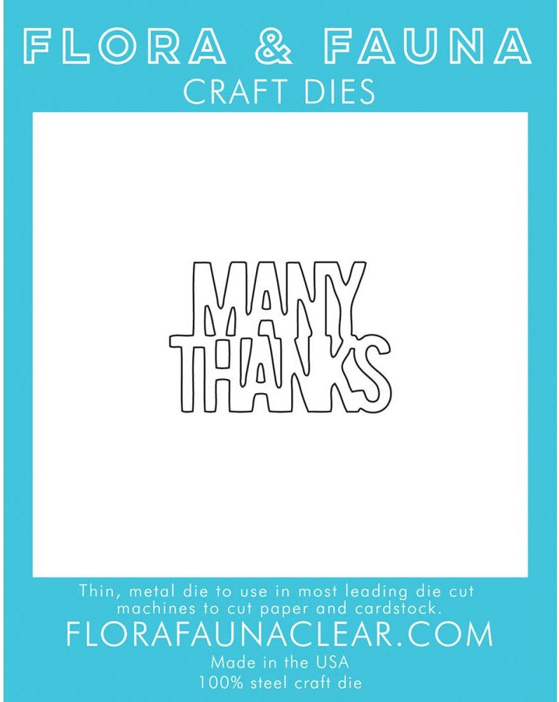 Flora and Fauna Craft Dies - Many Thanks