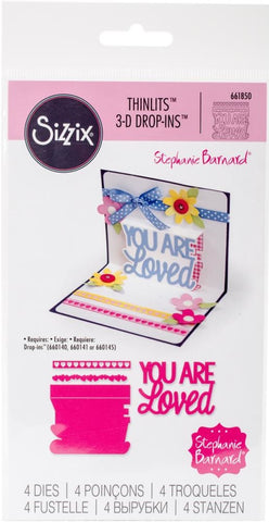 Sizzix - Thinlits 3D Drop-Ins Dies by Stephanie Barnard - You Are Loved