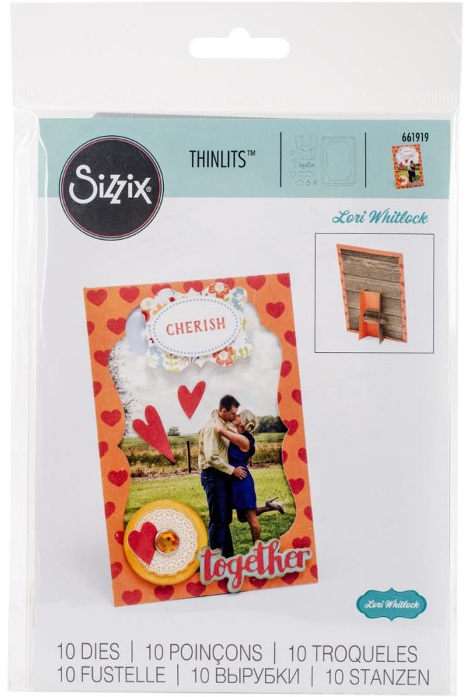"Sizzix - Thinlits Dies - 4"" x 6"" Frame With Easel"