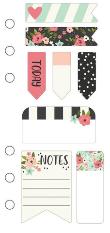 Simple Stories - Carpe Diem Mini Sticky Notes - Bloom