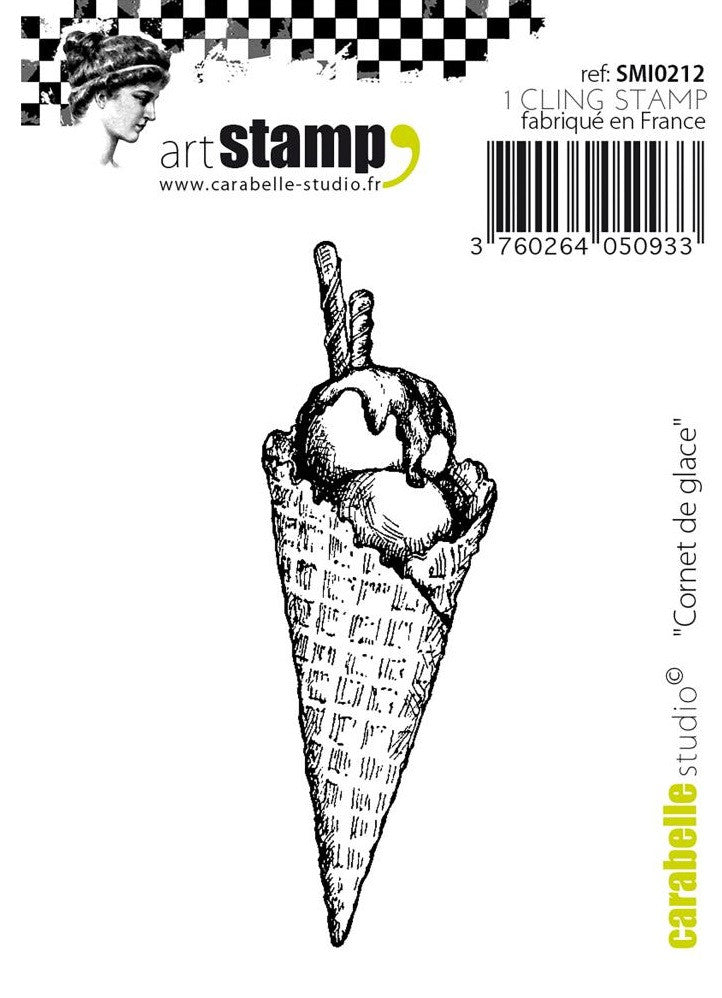 Carabelle Studio - Art Stamp Cling Stamps - Ice Cream Cone