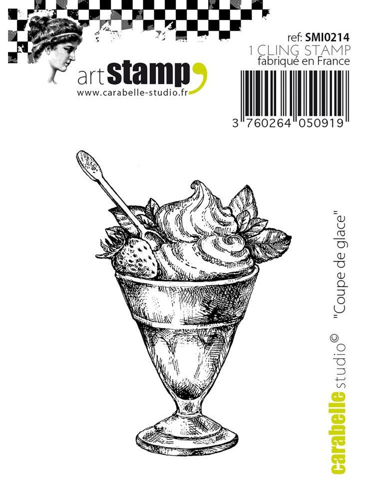 Carabelle Studio - Art Stamp Cling Stamps - Mini Ice Cream Sundae