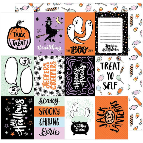 American Crafts - BOOtiful Night Double-Sided Cardstock - Bewitched (Halloween)