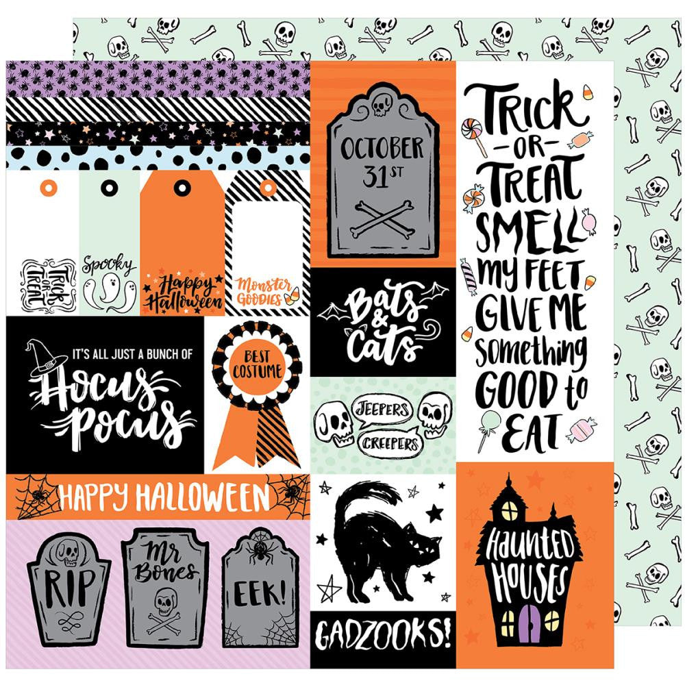 American Crafts - BOOtiful Night Double-Sided Cardstock - Gadzooks (Halloween)