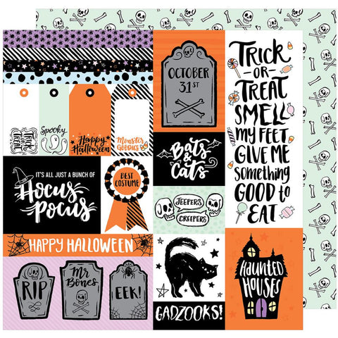 ***Pre-Order*** American Crafts - BOOtiful Night Double-Sided Cardstock - Gadzooks (Halloween)