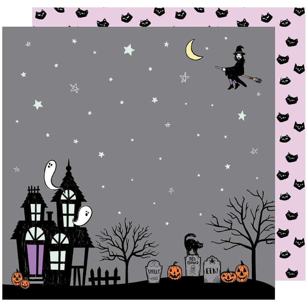 American Crafts - BOOtiful Night Double-Sided Cardstock - Eerie (Halloween)