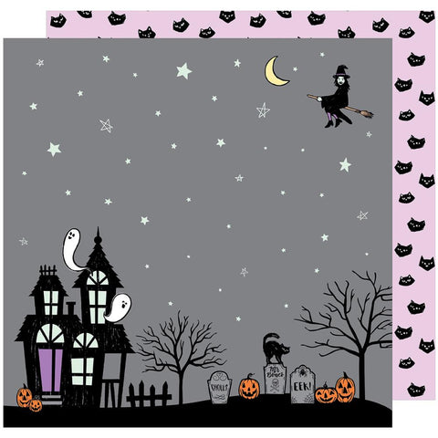 ***Pre-Order*** American Crafts - BOOtiful Night Double-Sided Cardstock - Eerie (Halloween)
