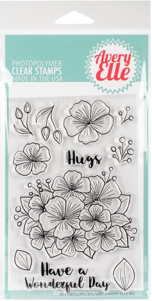 Avery Elle - Photopolymer Clear Stamps - Floral Bouquet