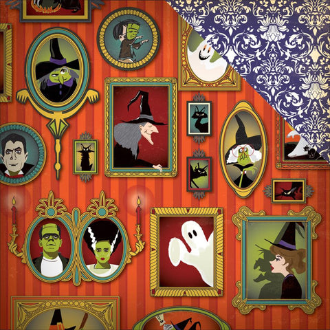 Carta Bella - Haunted House Double-Sided Cardstock - Portrait Gallery (Halloween)