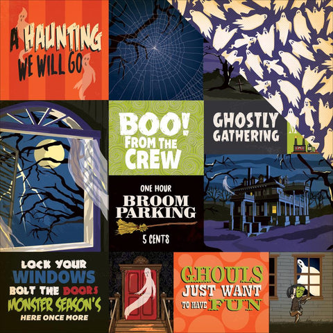 Carta Bella - Haunted House Double-Sided Cardstock - Multi Journaling Cards (Halloween)