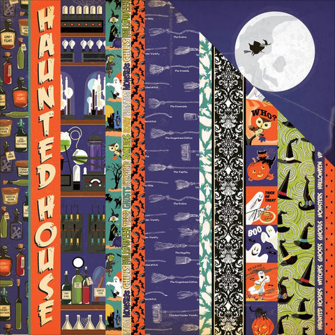 Carta Bella - Haunted House Double-Sided Cardstock - Border Strips (Halloween)
