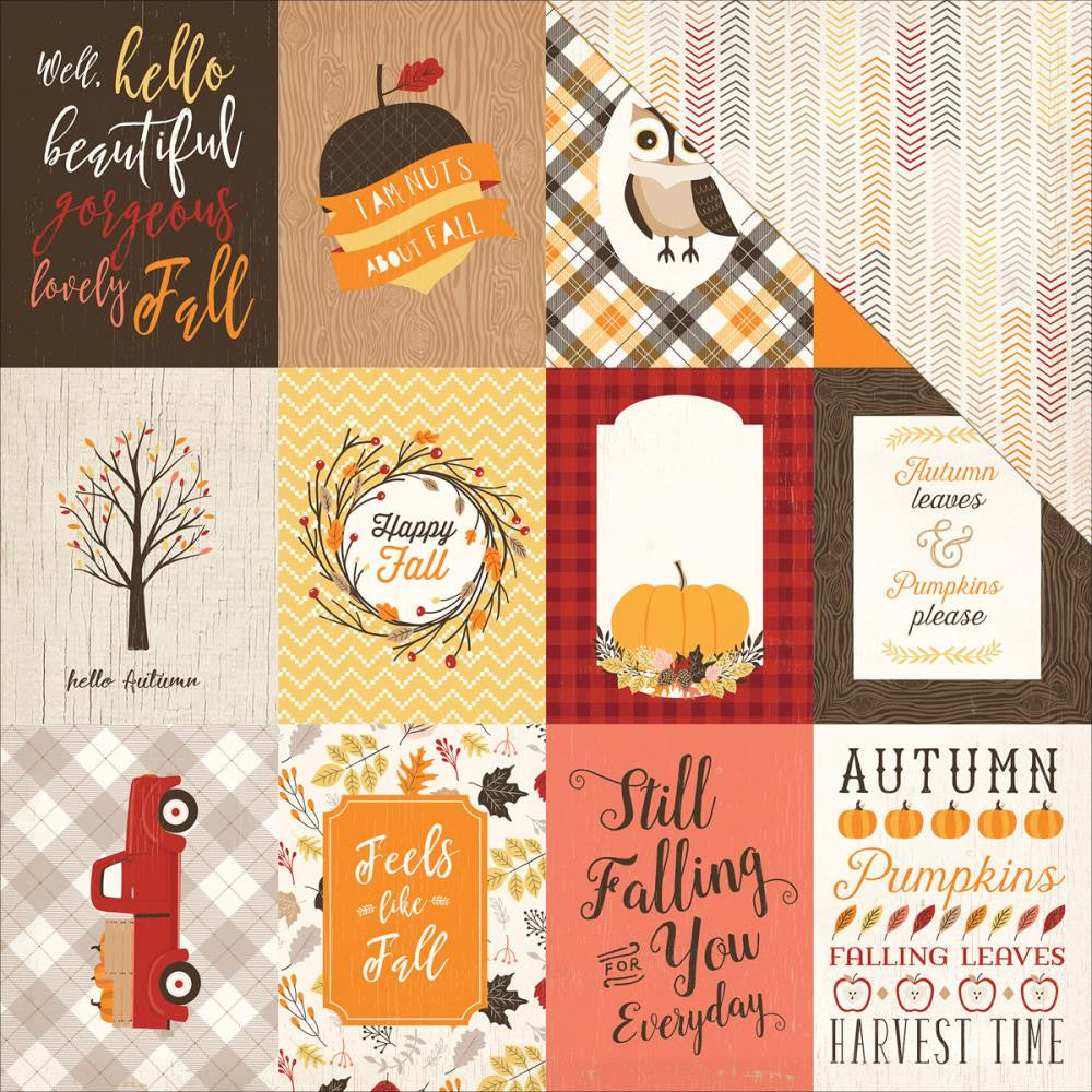 "Carta Bella - Hello Fall Double-Sided Cardstock - 3"" x 4"" Journaling Cards"