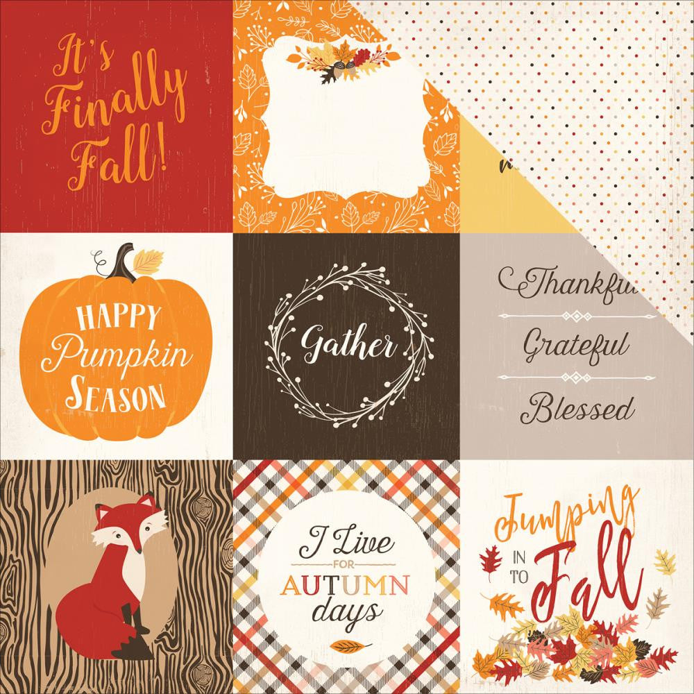 "Carta Bella - Hello Fall Double-Sided Cardstock - 4"" x 4"" Journaling Cards"
