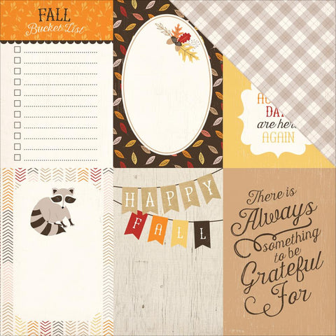 "Carta Bella - Hello Fall Double-Sided Cardstock - 4"" x 6"" Journaling Cards"