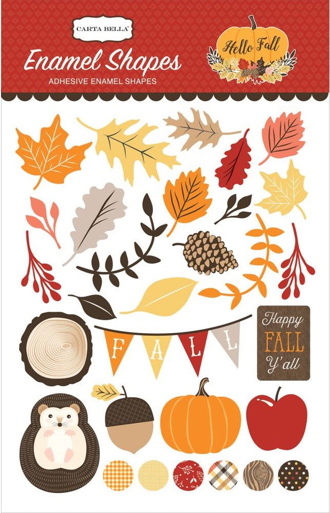 Carta Bella - Hello Fall Enamel Shapes