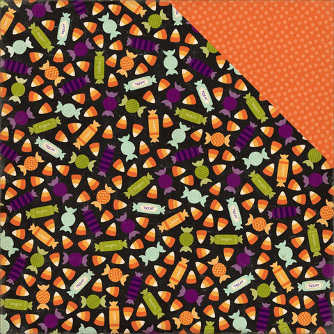 Echo Park Paper - Halloween Town Double-Sided Cardstock - Candy Fun (Halloween)