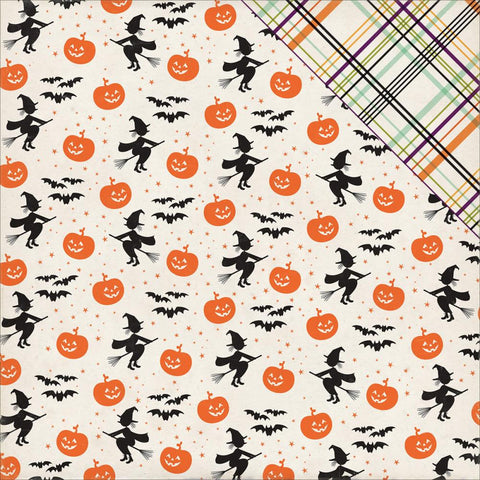Echo Park Paper - Halloween Town Double-Sided Cardstock - Bewitching Pumpkins (Halloween)