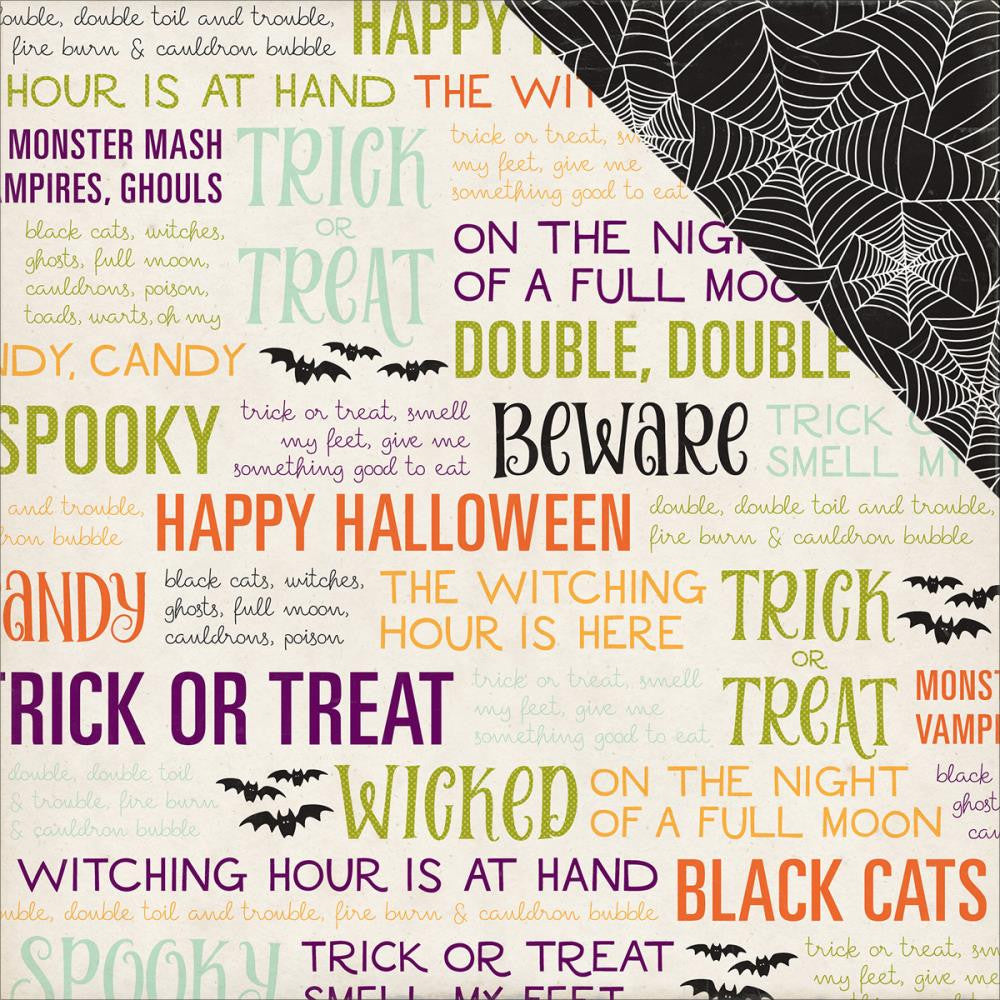 Echo Park Paper - Halloween Town Double-Sided Cardstock - Trick Or Treat (Halloween)