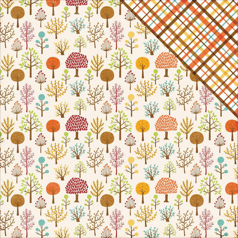 Echo Park Paper - A Perfect Autumn Double-Sided Cardstock - Woodland Walk