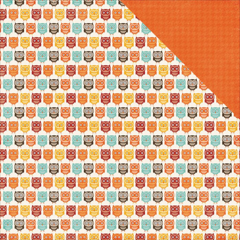 Echo Park Paper - A Perfect Autumn Double-Sided Cardstock - Owl Friends