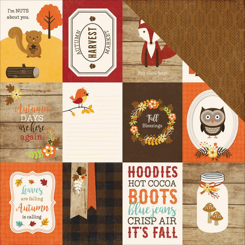 "Echo Park Paper - A Perfect Autumn Double-Sided Cardstock - 3"" x 4"" Journaling Cards"