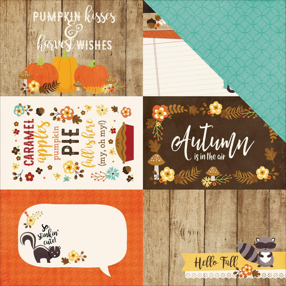 "Echo Park Paper - A Perfect Autumn Double-Sided Cardstock - 4"" x 6"" Journaling Cards"