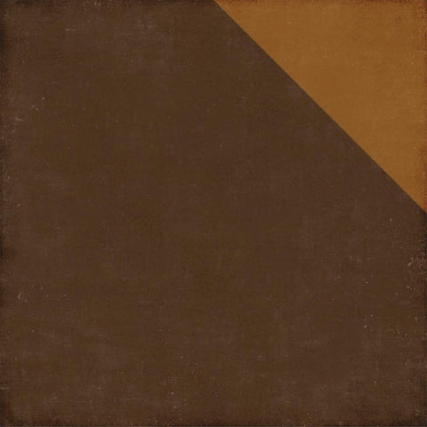 Echo Park Paper - A Perfect Autumn Double-Sided Cardstock - Dark Brown/Light Brown Solid