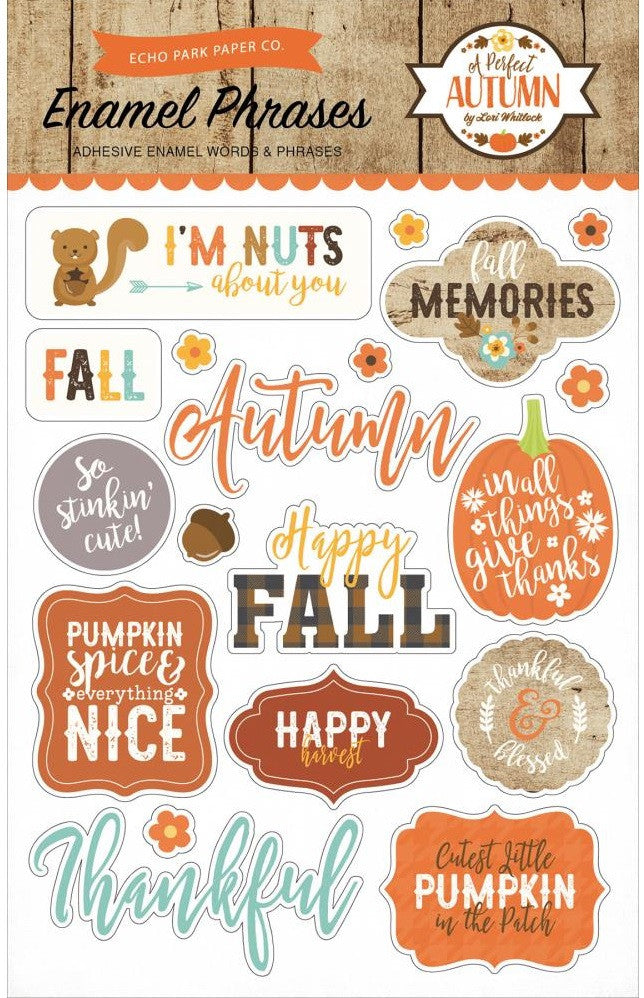 Echo Park Paper - A Perfect Autumn Enamel Phrases