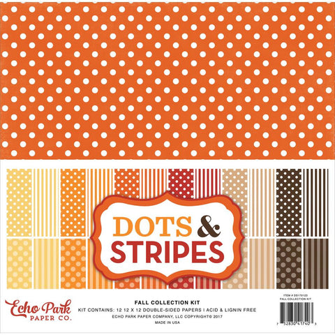 Echo Park Paper - Dots & Stripes Fall Collection Kit Fall Dots & Stripes