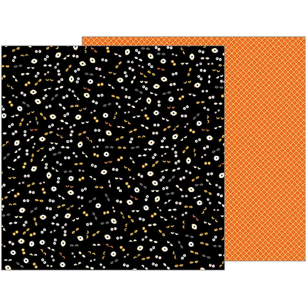 Pebbles - Midnight Haunting Double-Sided Cardstock - Eyes On You (Halloween)