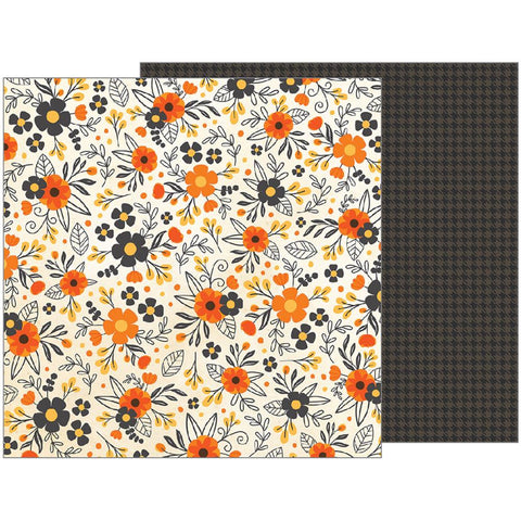 Pebbles - Midnight Haunting Double-Sided Cardstock - Hauntingly Beautiful (Halloween)