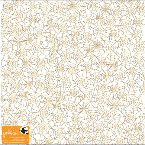 Pebbles - Midnight Haunting Specialty Vellum Sheet - Gold Foil (Halloween)