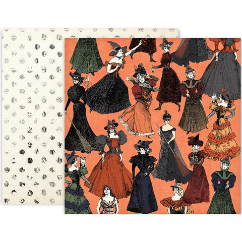 Pink Paislee - Spellcast Double-Sided Cardstock - #06 (Halloween)